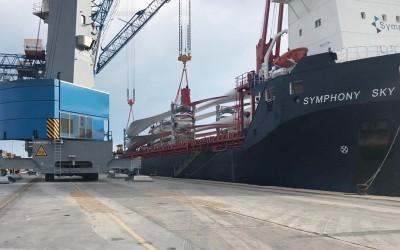 Integral Shipping transporta las palas más grandes de España